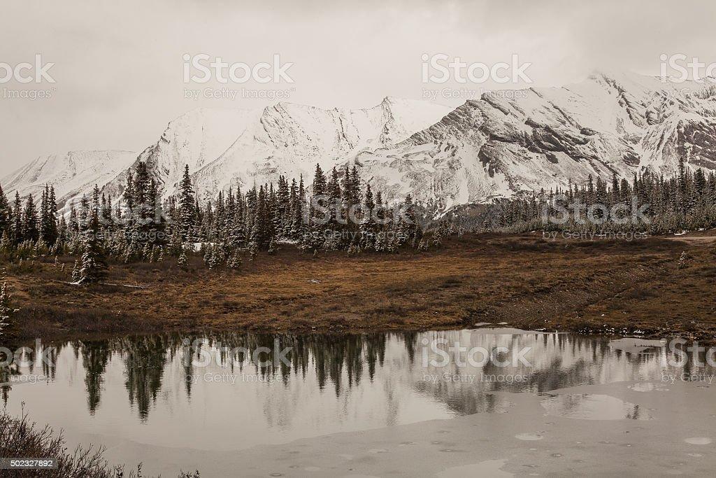 Icefield Parkway, Alberta, Canada stock photo