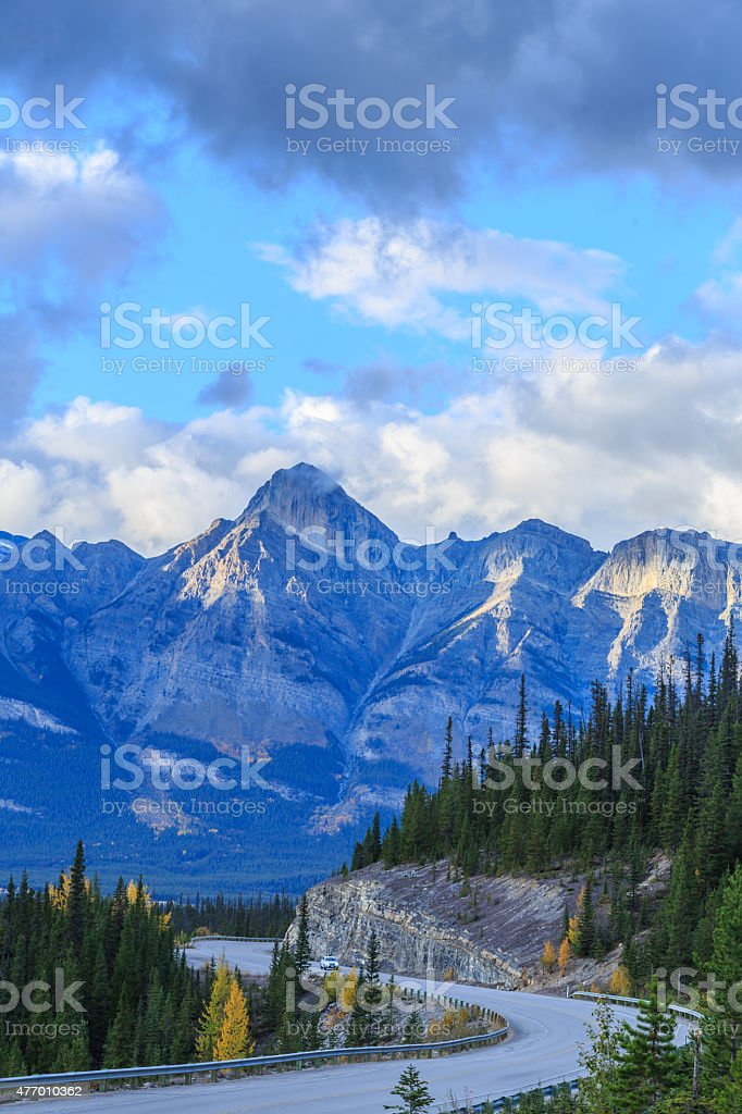 Icefield Parkway in Jasper National Park, Alberta, Canada stock photo
