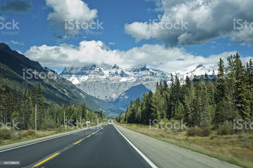 Icefields Parkway between Jasper and Banff stock photo