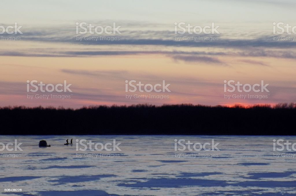 Icefishing stock photo