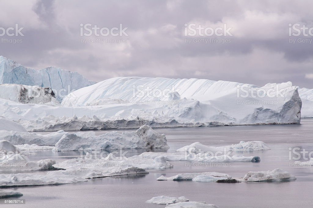 Icefjord Greenland stock photo