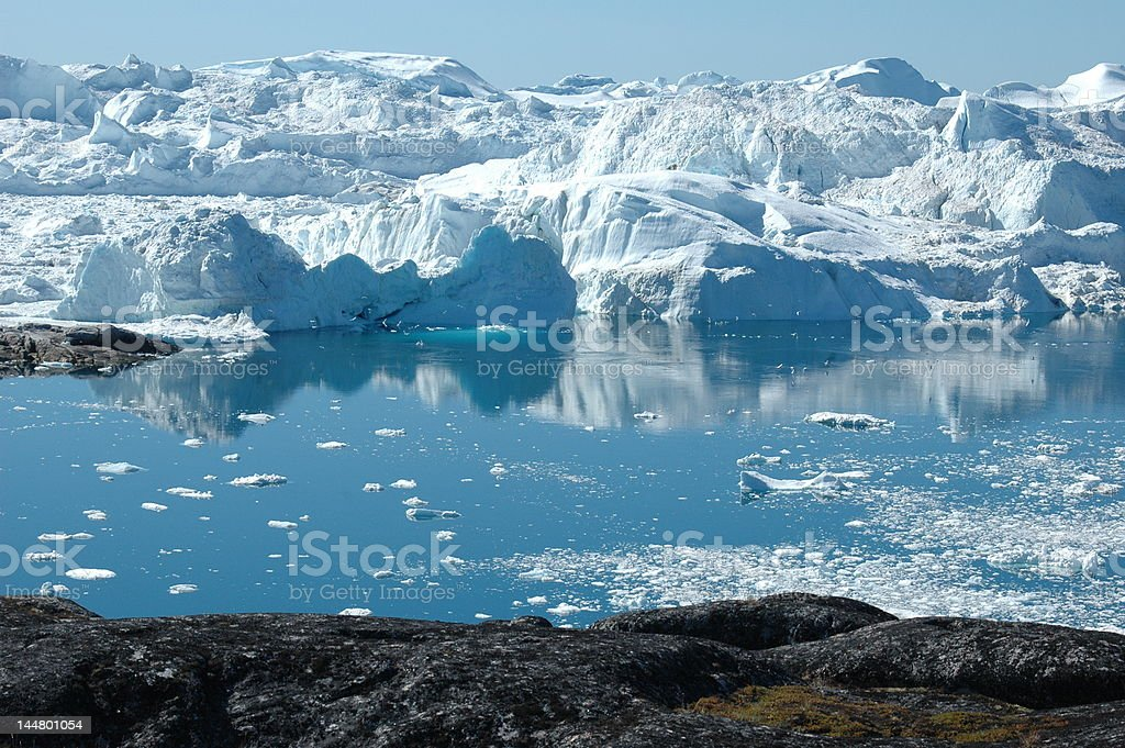 Icefjord, near Ilulissat, Greenland stock photo