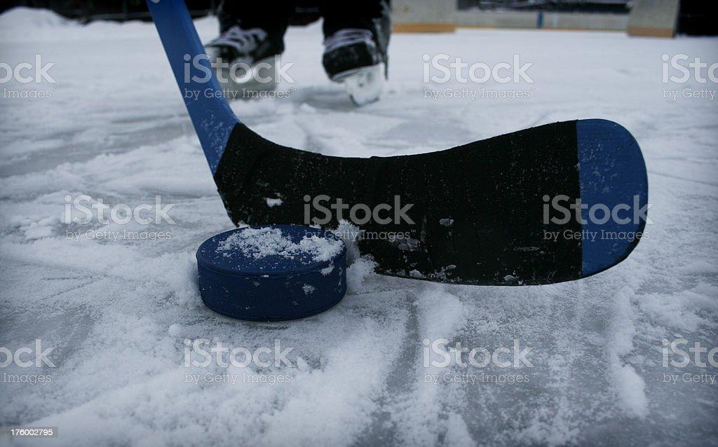 Ice-hockey stick royalty-free stock photo