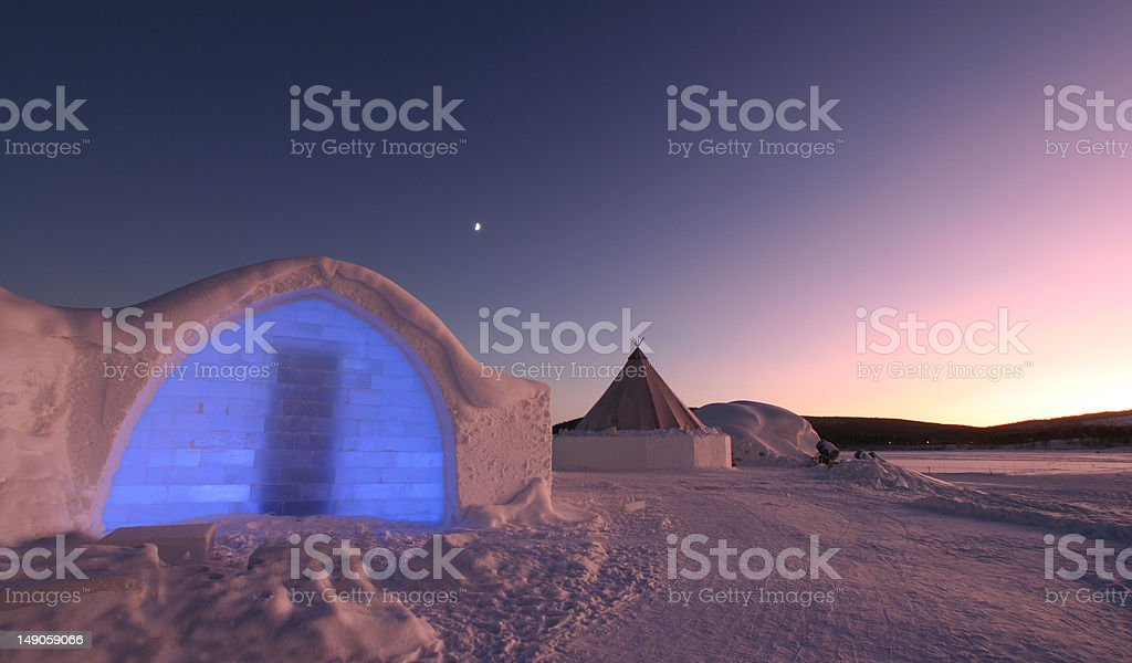 Icehotel Entrance royalty-free stock photo