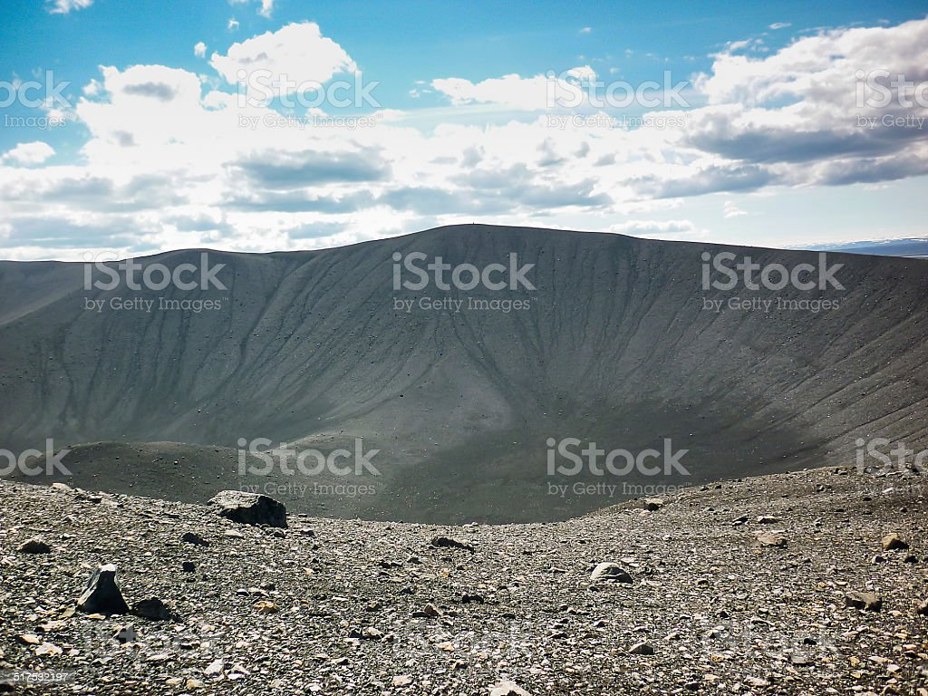 icelan, Hverfjall crater stock photo