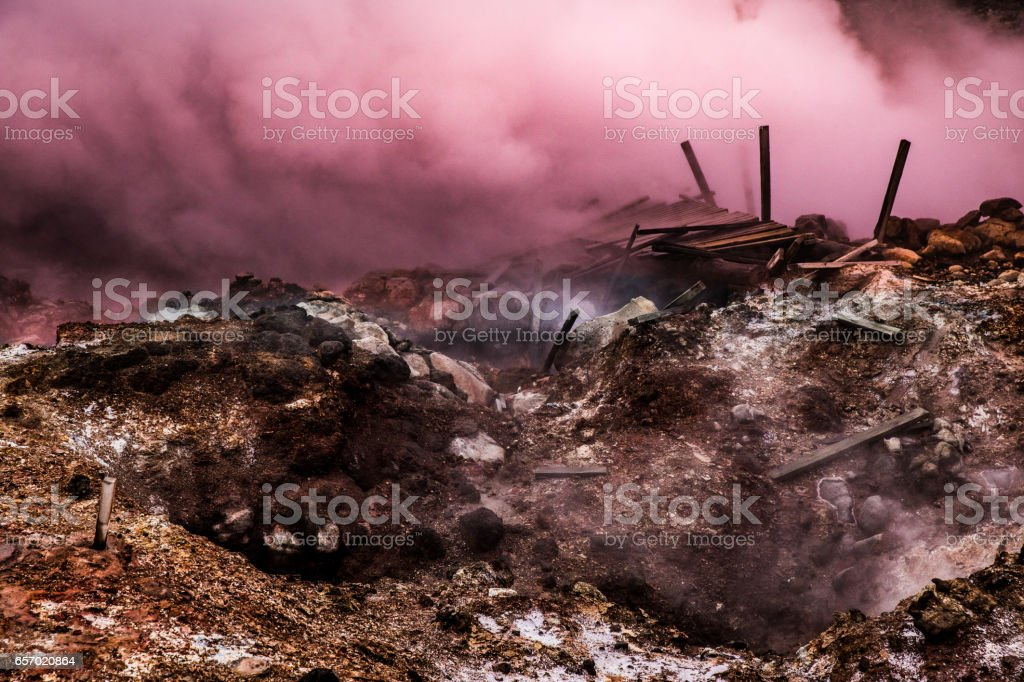 Iceland - Amazing gayser scenic natural landscape view stock photo