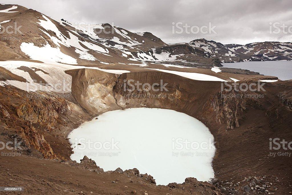 Iceland. Askja and Viti craters. Highland area. royalty-free stock photo