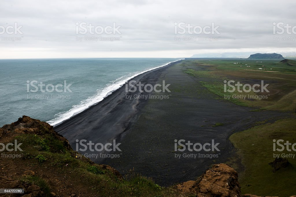 Iceland black beaches stock photo