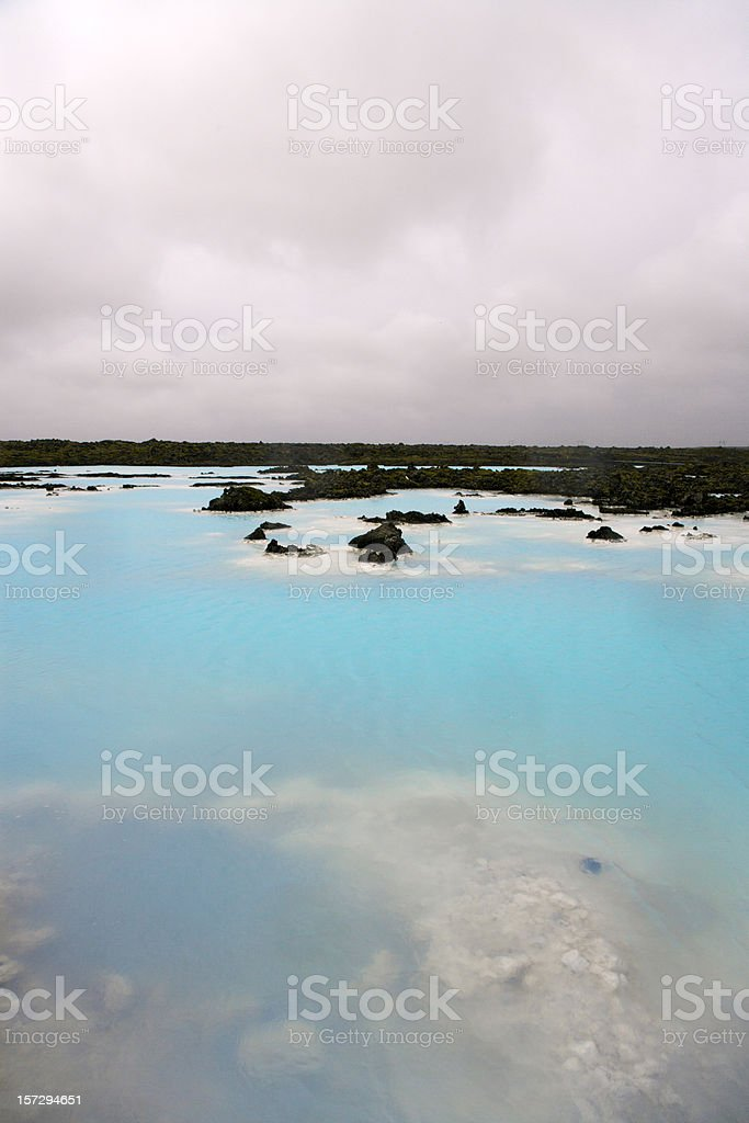 Iceland Blue Lagoon Geothermal Seawater Pool royalty-free stock photo