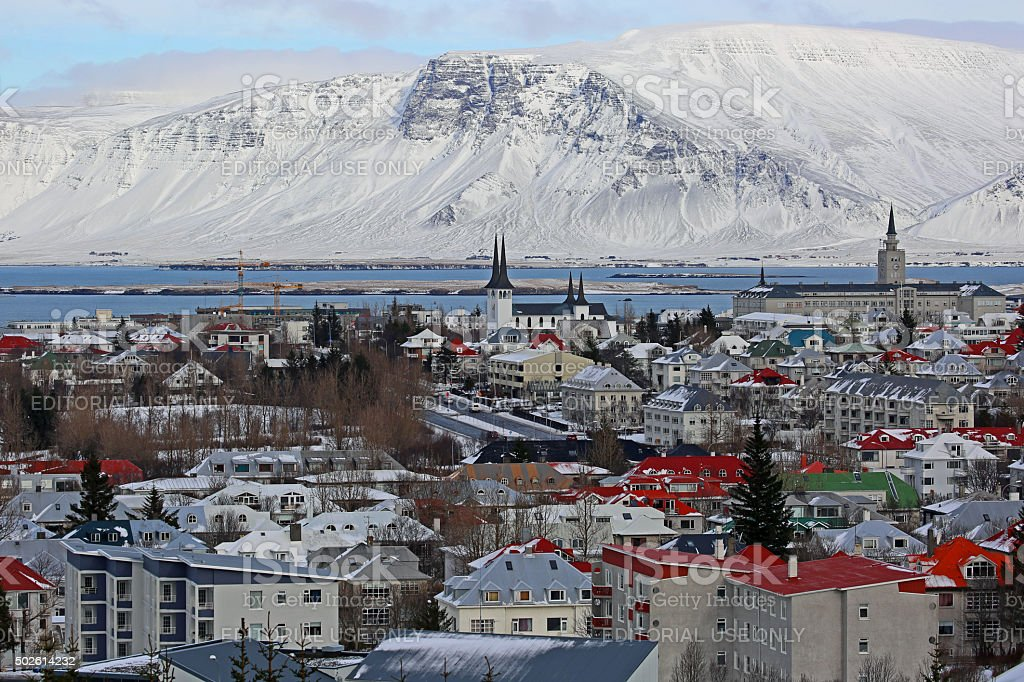 Iceland: City Of Reykjavik stock photo