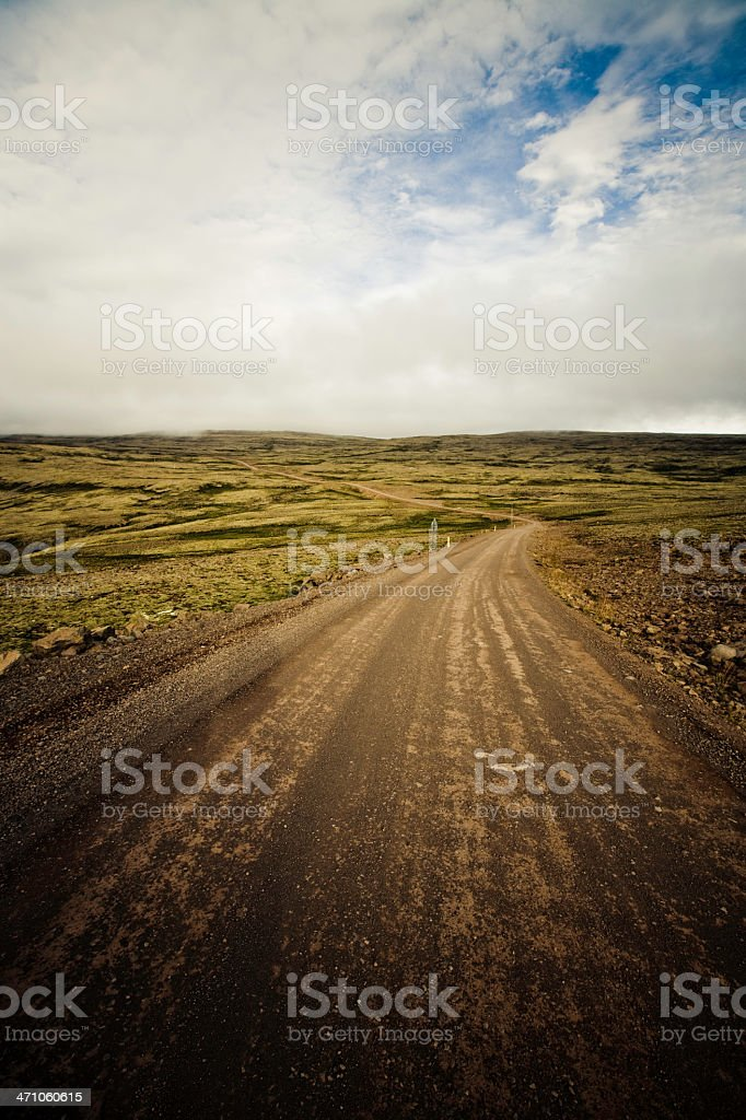 Iceland Country Road royalty-free stock photo