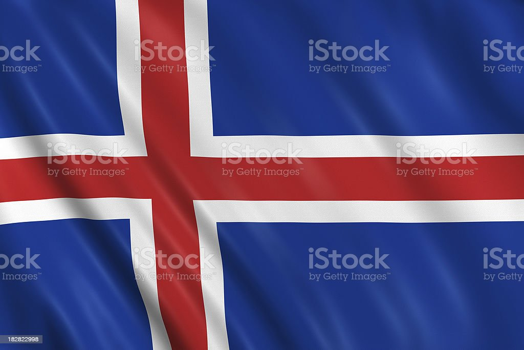 iceland flag royalty-free stock photo