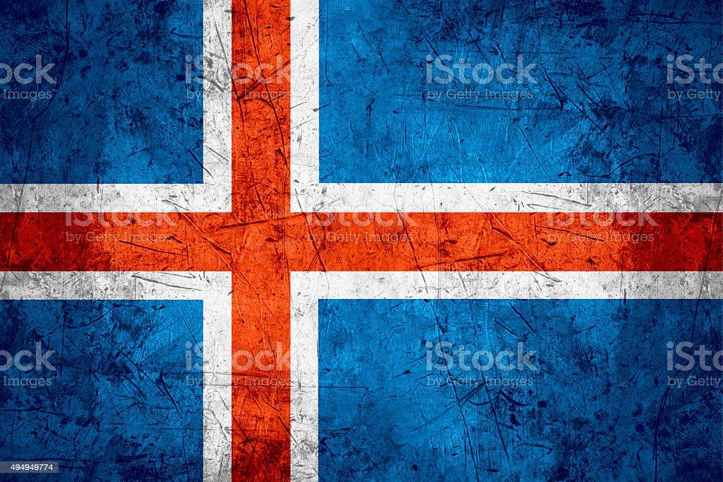 Iceland flag stock photo