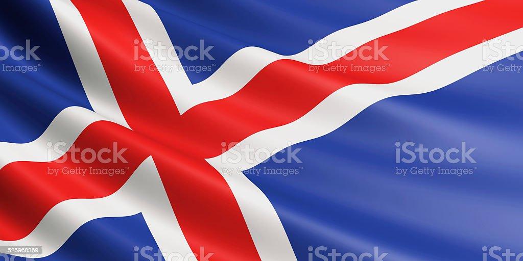 Iceland flag. royalty-free stock photo