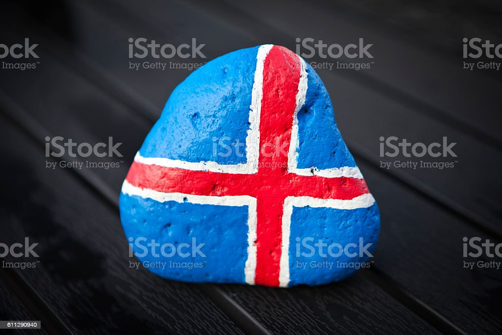 Iceland flag stock photo
