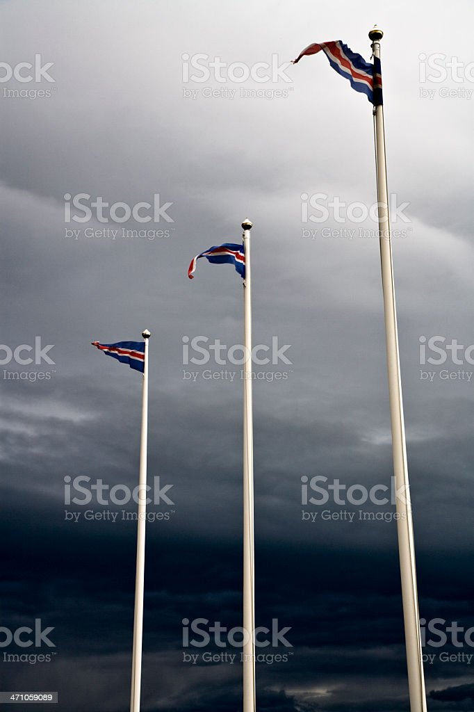 Iceland Flags royalty-free stock photo