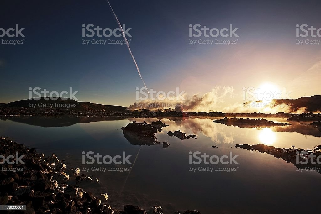 Iceland, Geothermal, Hot Spring, Lagoon Blue stock photo