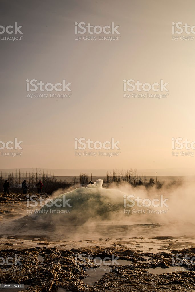 Iceland Geyser stock photo
