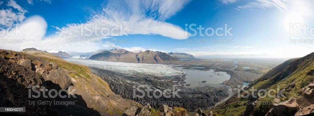 iceland glacier stock photo