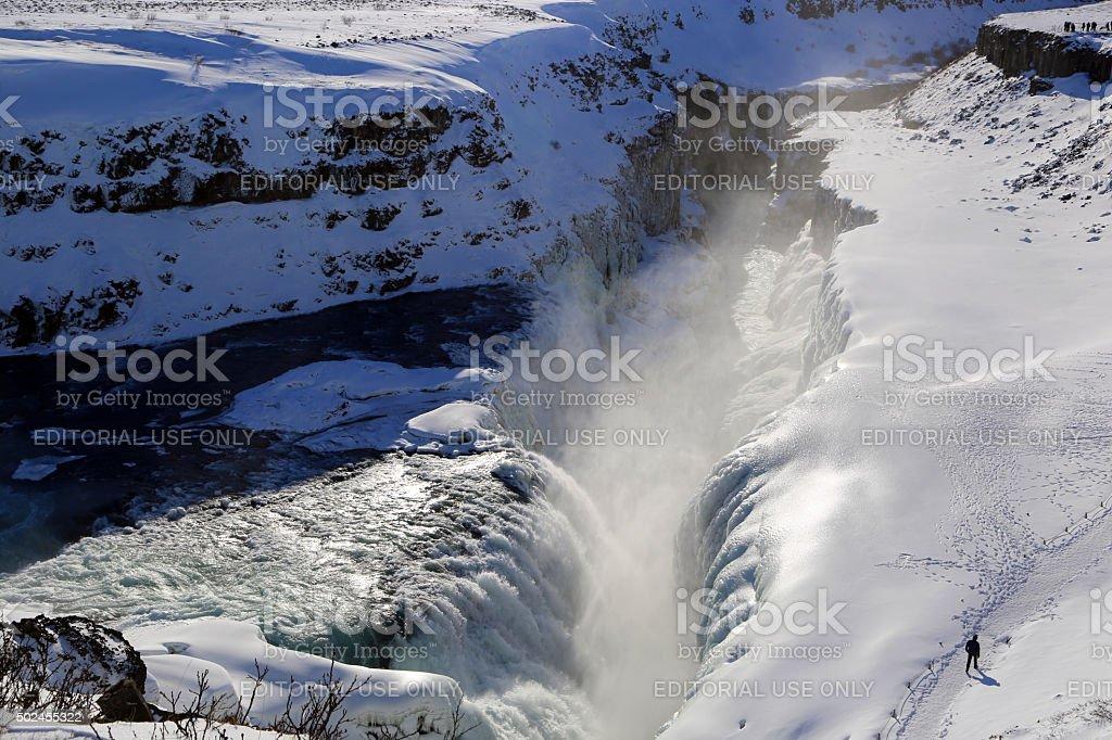 Iceland: Gullfoss Waterfalls stock photo