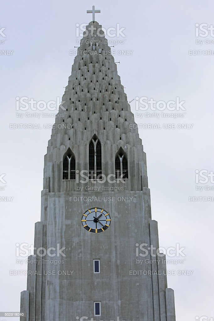Iceland: Hallgrímskirkja in Reykjavik stock photo