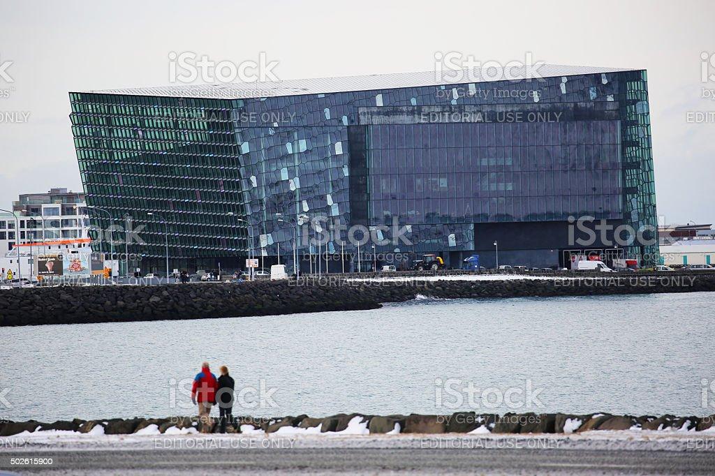 Iceland: Harpa Concert Hall in Reykjavik stock photo