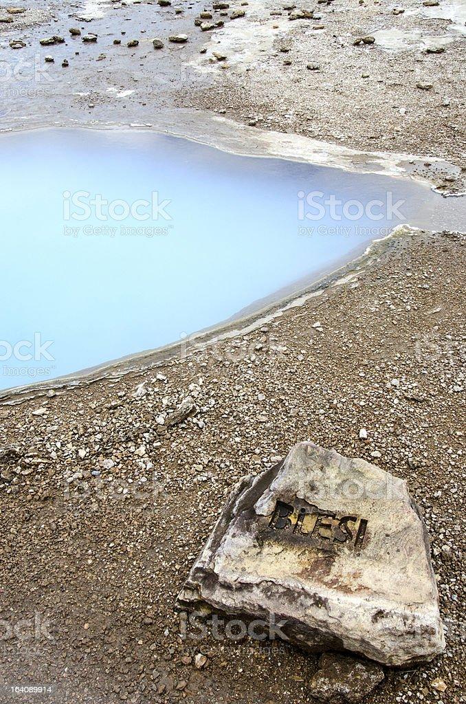 Iceland, Haukadalur-Blesi Geysir, Golden Circle royalty-free stock photo
