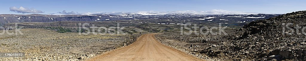 Iceland high country road Arctic desert panorama royalty-free stock photo