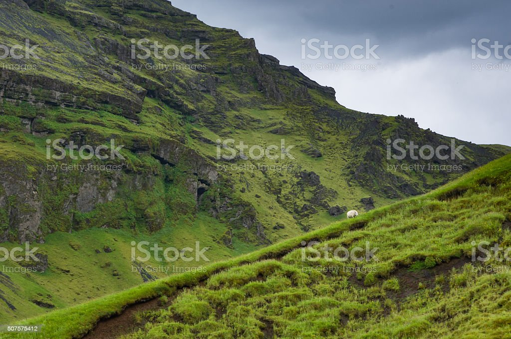 Iceland hill stock photo