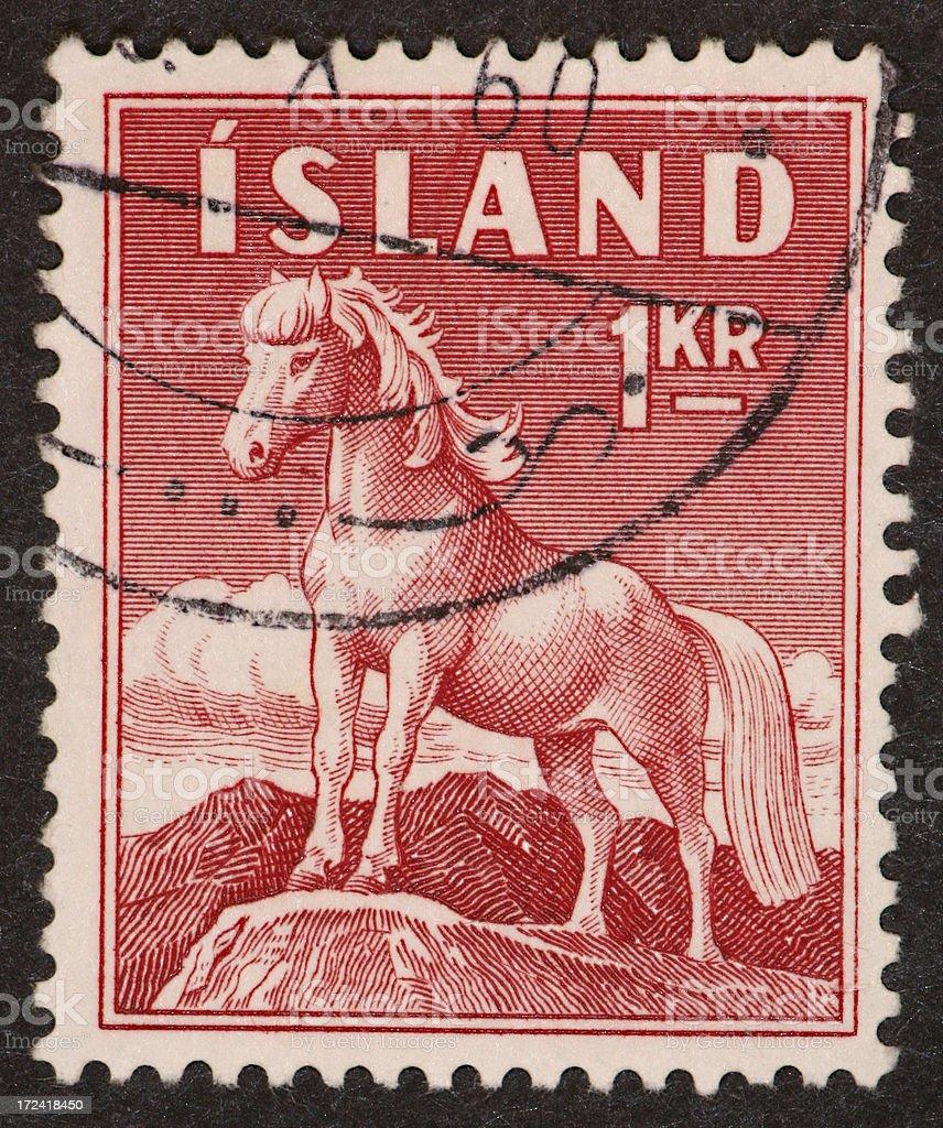 Iceland horse stamp royalty-free stock photo