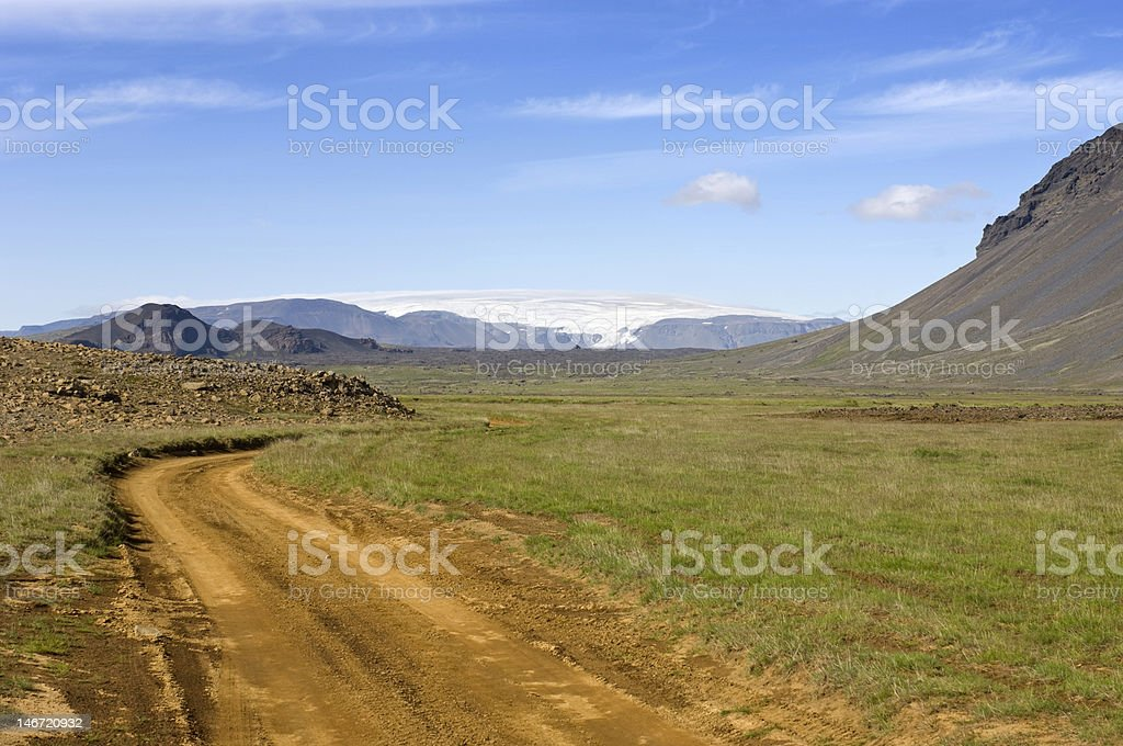 Iceland Inland Trail stock photo