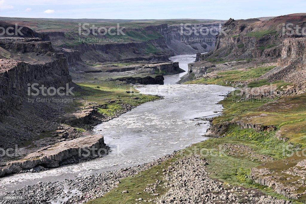 Iceland - Jokulsargljufur National Park stock photo
