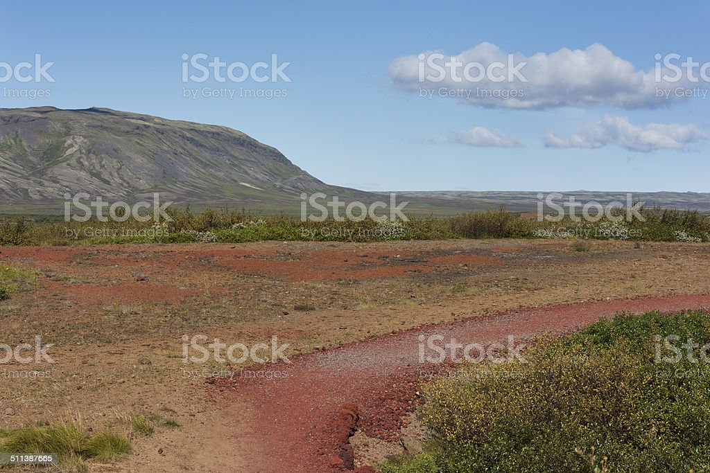 Iceland Kerio Crater Landscape stock photo