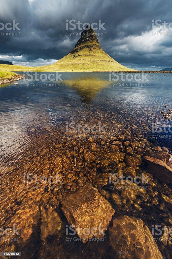 Iceland Kirkjufell stock photo