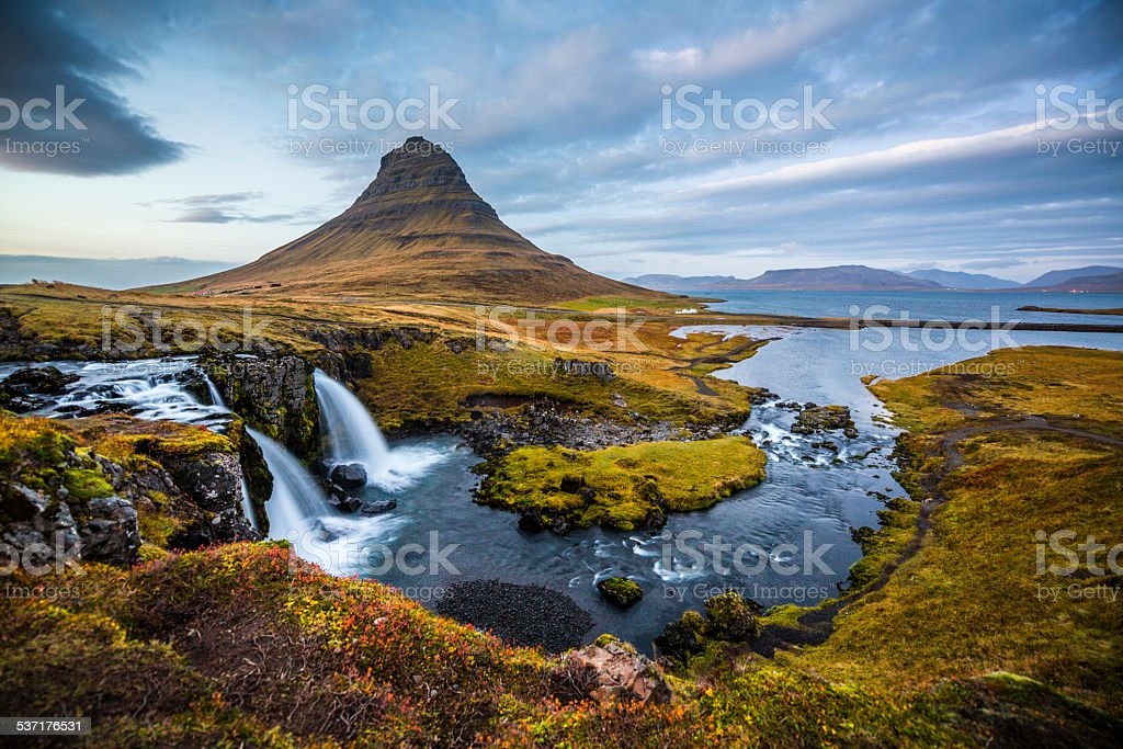 Iceland Landscape Kirkjufell stock photo