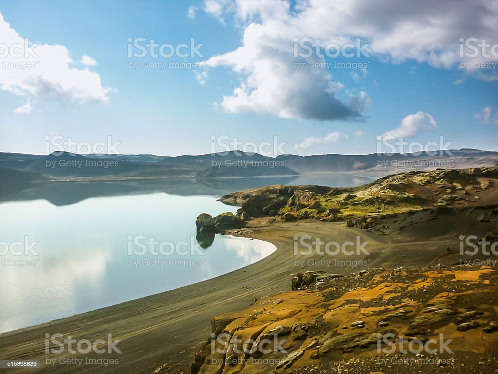 iceland landscape stock photo