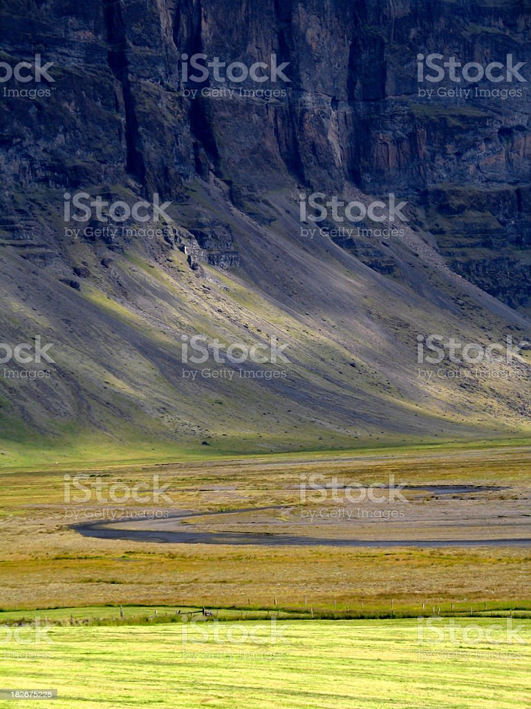 Iceland: Magnificent Cliffs royalty-free stock photo