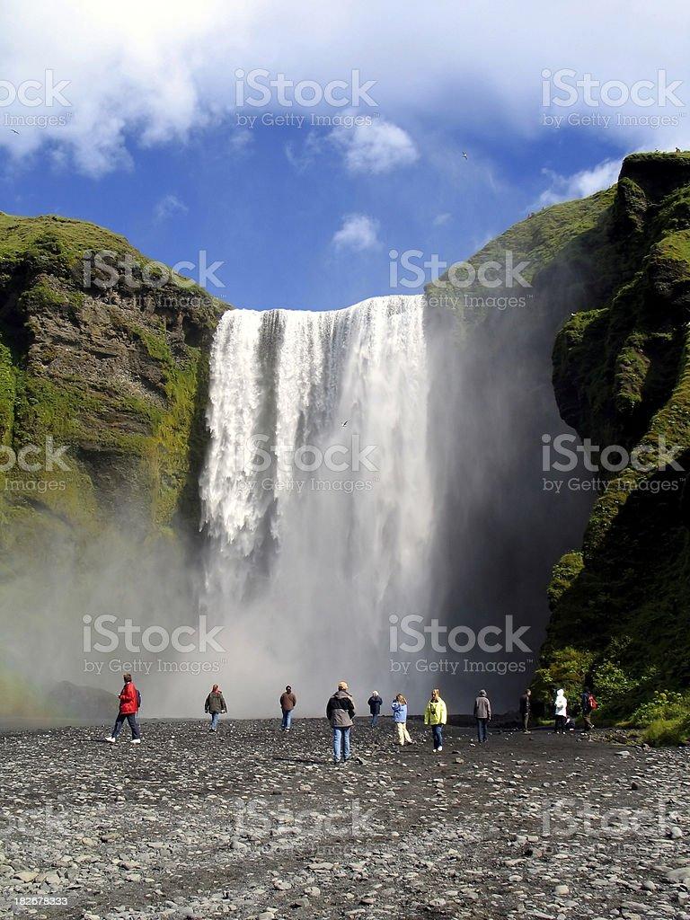 Iceland: Magnificent Waterfall Skogafoss stock photo