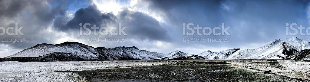 Iceland mountain panorama stock photo