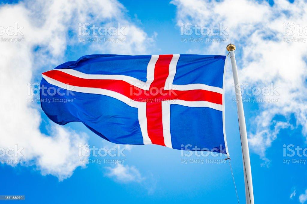 Iceland national flag stock photo