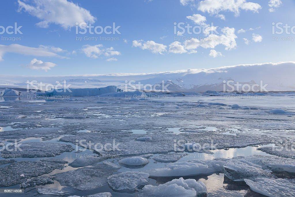 Iceland natural glacier in winter season stock photo