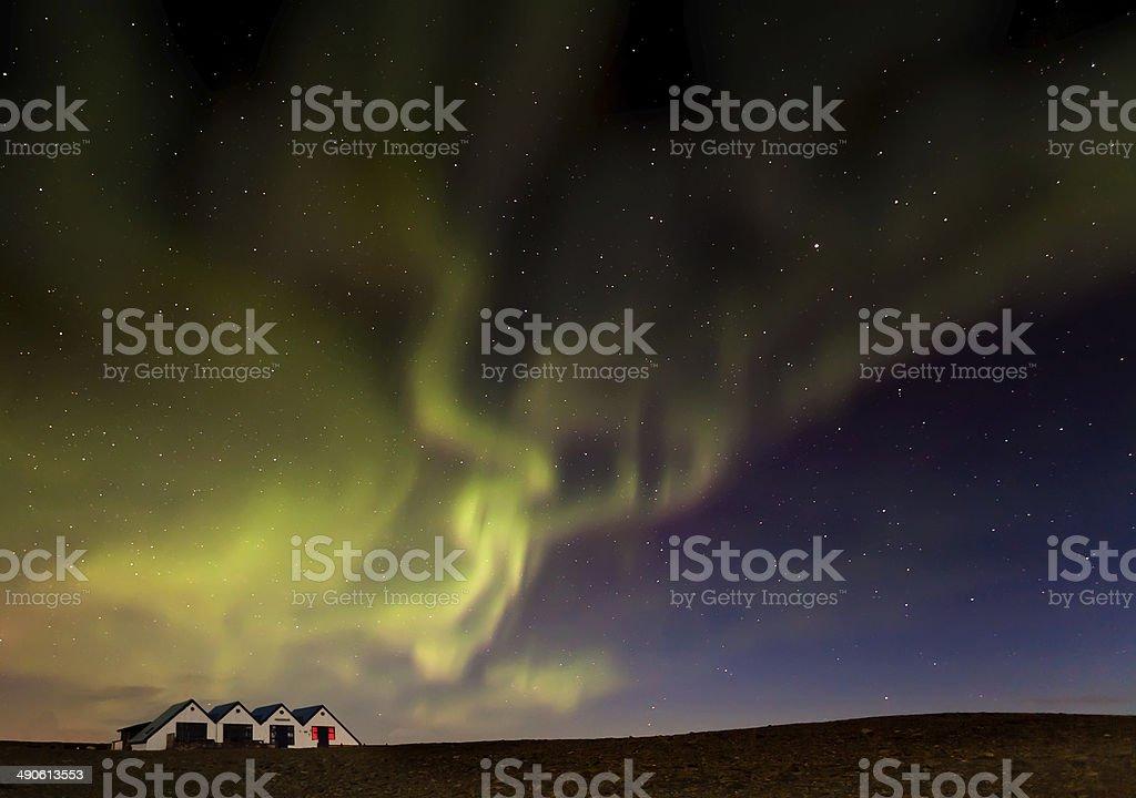 Iceland night stock photo