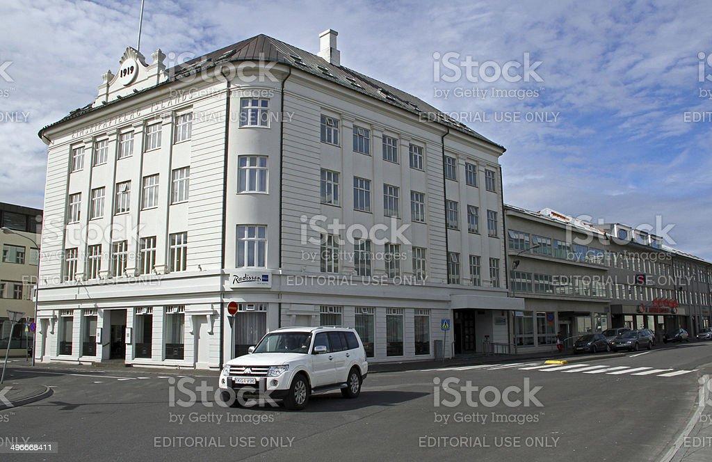 Iceland: Radisson Blu 1919 Hotel stock photo