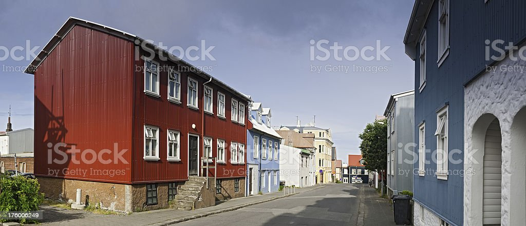 Iceland Reykjavík streets colorful houses royalty-free stock photo