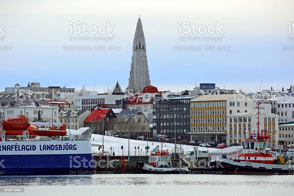 Iceland: Reykjavik Old Harbour stock photo