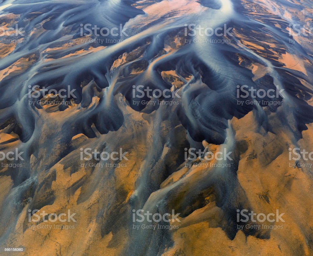 Iceland River Delta stock photo