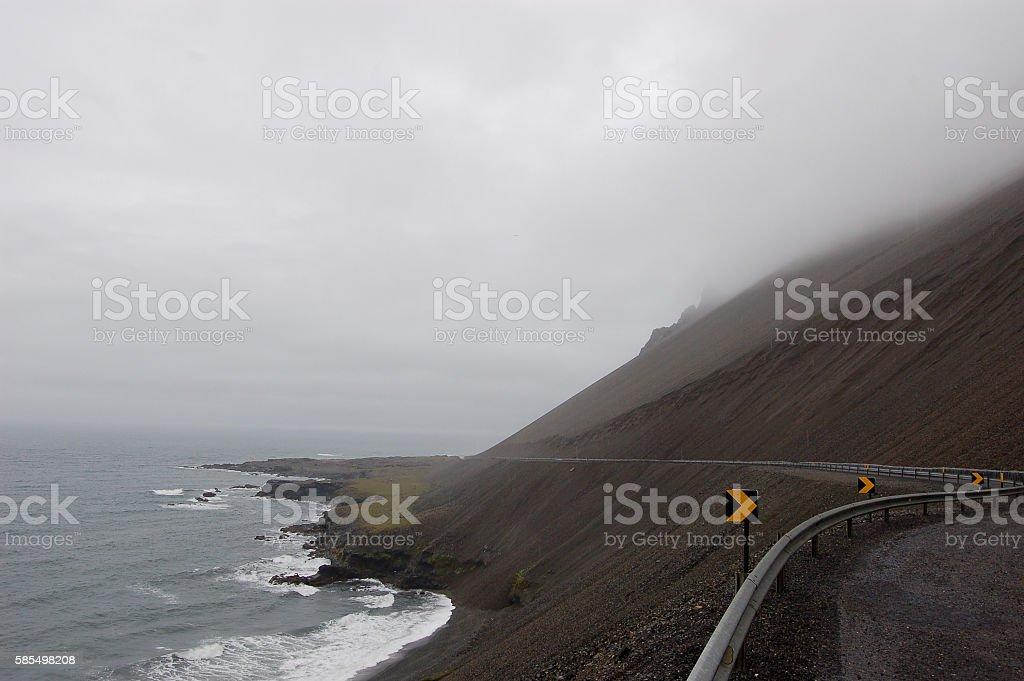 Iceland road stock photo