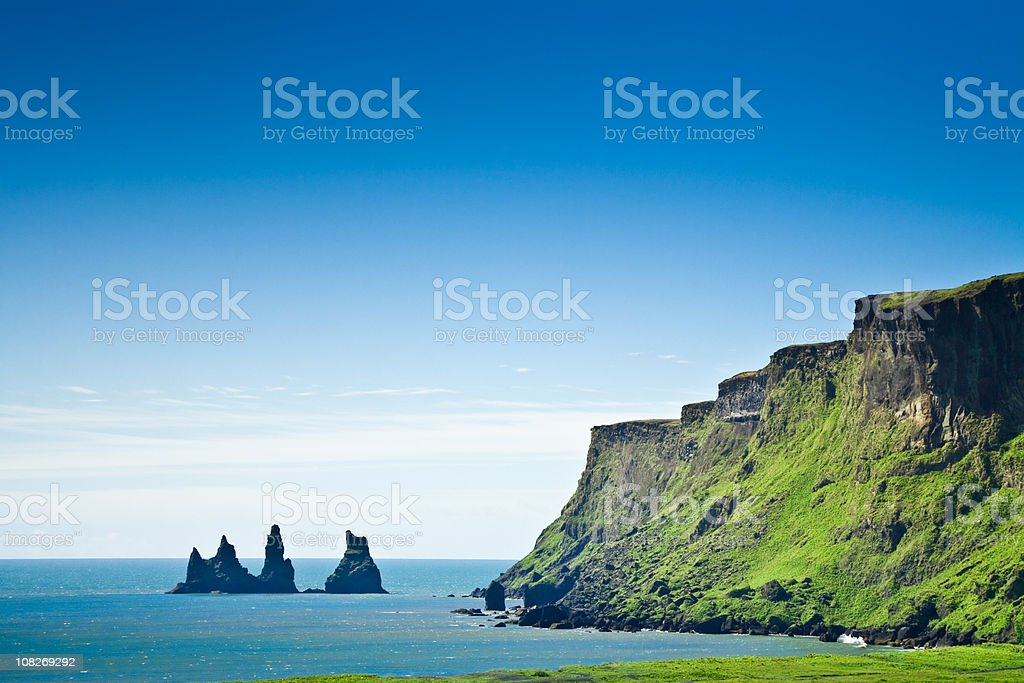 Iceland Sea View with Cliffs royalty-free stock photo