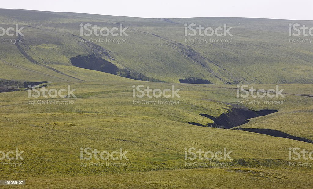 Iceland. South area. Fjallabak. Volcanic landscape. royalty-free stock photo