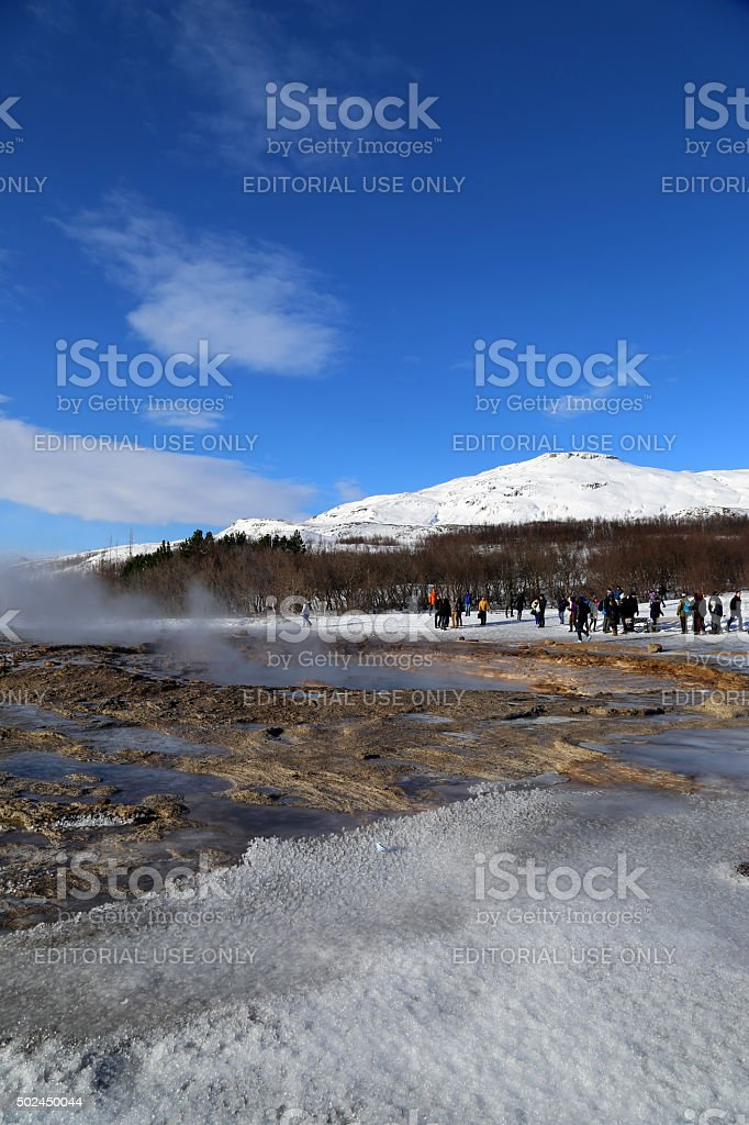 Iceland: Strokkur Geyser stock photo